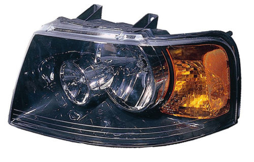 Ford Expedition 2004 2005 2006 left driver black headlight