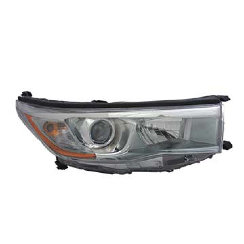 Toyota Highlander 2014 2015 2016 right passenger headlight (smoke chrome)