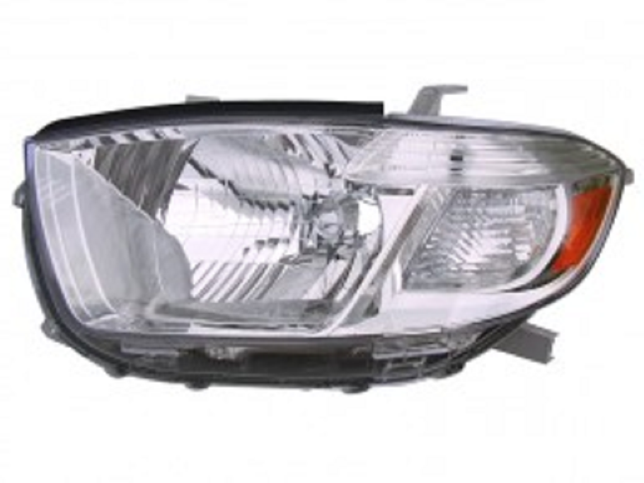 Toyota Highlander 2008 2009 2010 left driver headlight (US built)