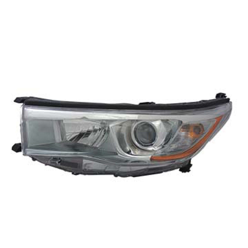 Toyota Highlander 2014 2015 2016 left driver headlight (smoke chrome)