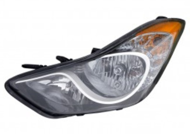 Hyundai Elantra sedan 2011 2012 2013 left driver headlight